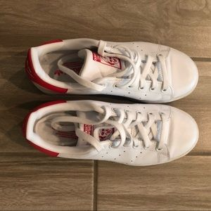 Adidas Originals Stan Smith White Red Sneakers 5.5